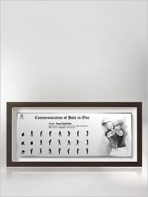 홀인원기념패(small size)   /  385x190x30(mm)
